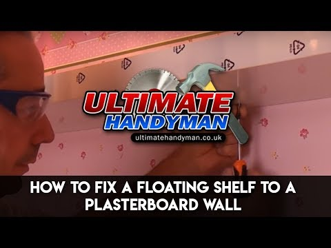 How to fix a floating shelf to a stud partition wall