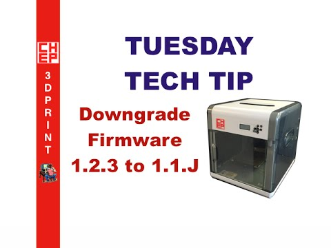 Tuesday Tech Tip - Downgrade your Da Vinci 1 0 from 1 2 3 to 1 1 J Firmware