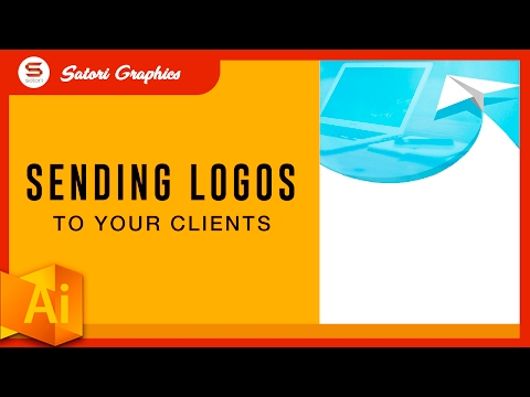 BEST WAY TO SAVE A LOGO FOR A CLIENT - Sending Your Finished Logo Designs