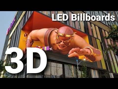3D LED billboards and OOH advertising amazing Trends 2021, The best 3D LED board in the world