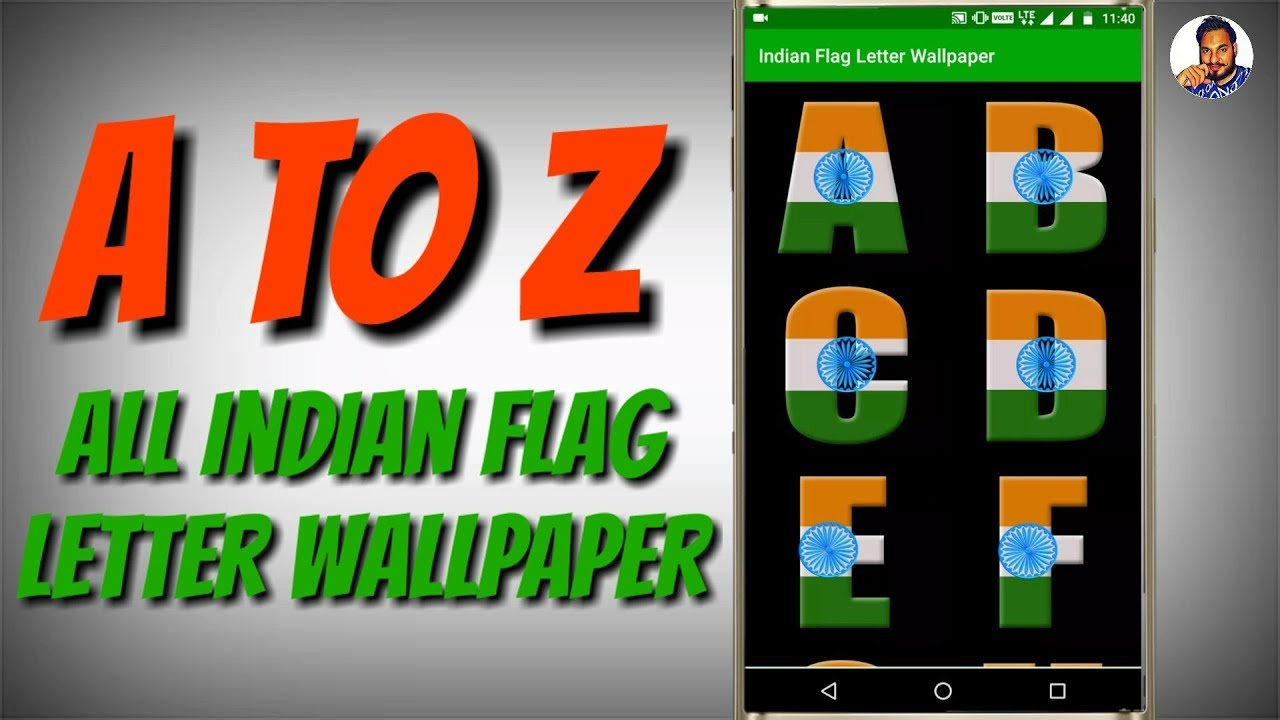 A to Z All Indian Flag Letter Wallpaper || A to Z letter Whatsapp status ||  Download Link