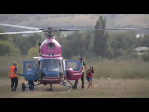 видео: Вертолет Ми-2 МСБ  31.08.2019 День авиации Запорожье