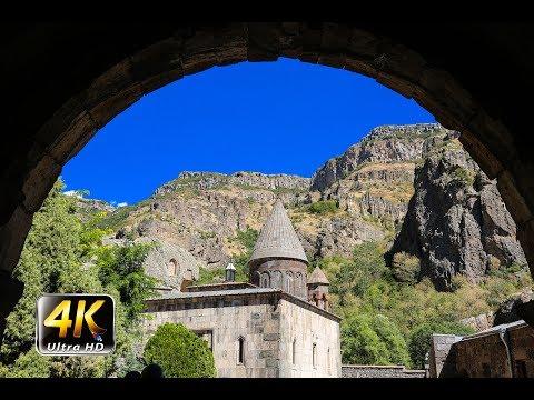 Geghard Monastery. Armenia In 4k (Ultra HD)