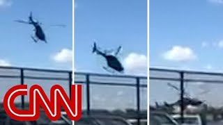 See helicopter crash into Hudson River