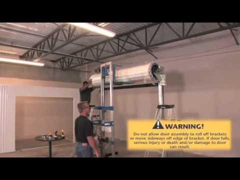 Clopay - 400M Heavy Duty Roll Up Door Installation ...