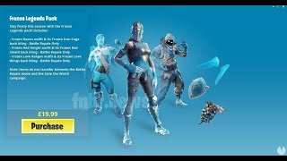 HOW TO GET FORTNITE'S FROST SKINPACK** BEFORE TIME