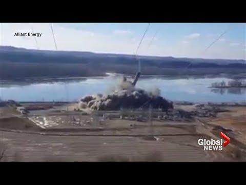 Alliant Energy plant implosion