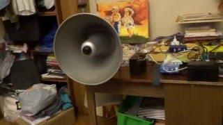 Громкоговоритель рупорный СССР(Для улучшения воспроизводимого звукового диапазона на рупор установлен автомобильный твиттер Supra. Музыка..., 2016-04-10T14:10:12.000Z)