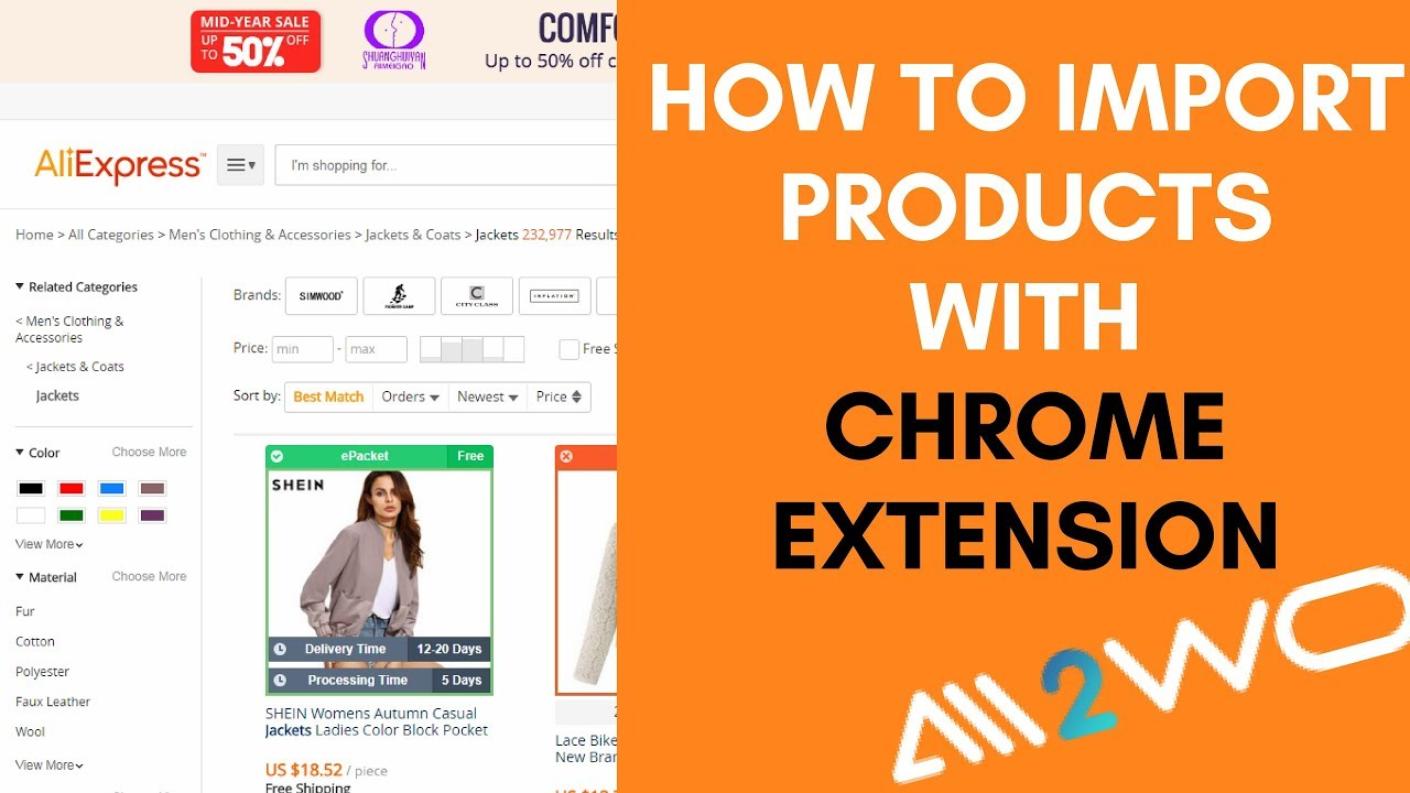 How to import products  from AliExpress using Ali2Woo Chrome extension