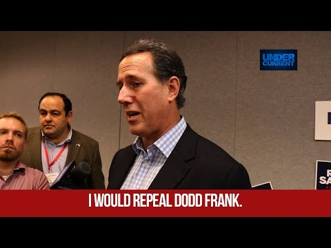 Rick Santorum: Repealing Glass Steagall a Mistake
