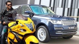Salman Khan Cars and Bikes Collection 2016 - Audi R8, Audi Q7, Range Rover, Suzuki Hayabusa