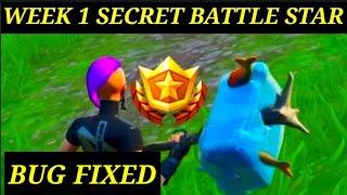 Fortnite Season 10 WEEK 1 Secret Battle Star *BUG FIXED* Easy Challenge GUIDE! ( SEASON X )