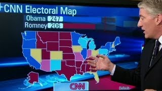 Electoral map shows slight Obama lead