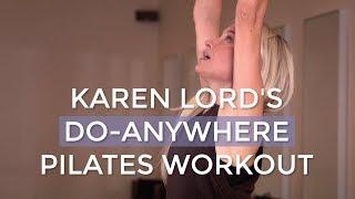 Karen Lord's 7-minute, do-anywhere Pilates routine