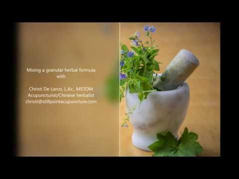Mixing a granular herbal formula