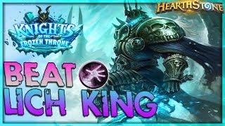 How to beat THE LICH KING [Warlock] - Solo Adventure 🌟 HEARTHSTONE  | Frozen Throne Legend