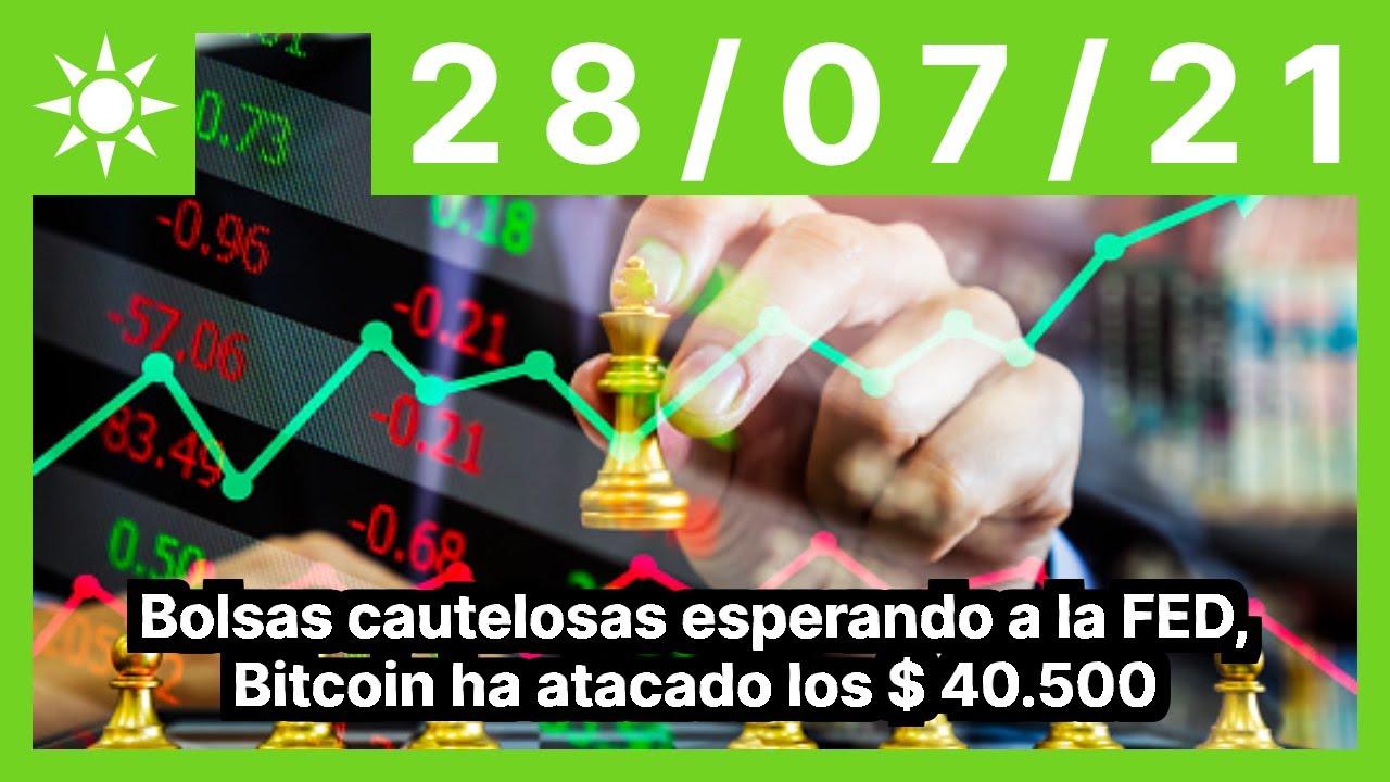 Bolsas cautelosas esperando a la FED, Bitcoin ha atacado los $ 40.500