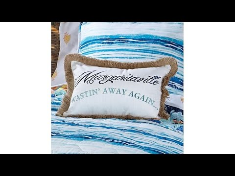 Margaritaville Embroidered Decorative Pillow