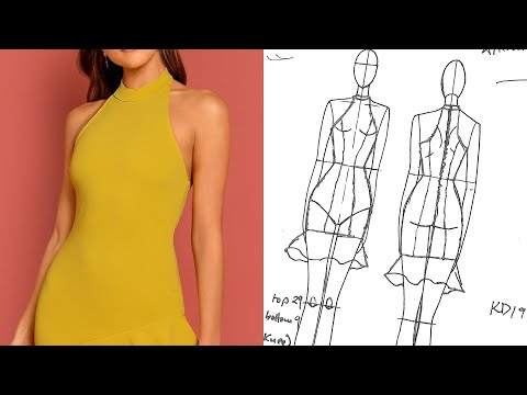 HOW TO MAKE HALTER NECK DRESS PATTERNS | KIM DAVE