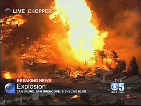 San Bruno Explosion, September 9, 2010, 7:08PM