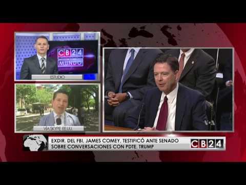 Exdirector del FBI declara ante el Senado y afirma que documentó conversaciones por si Trump mentía