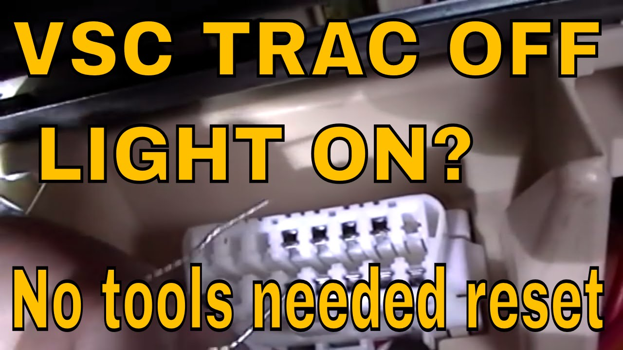 How to do a zero point calibration on LEXUS AND TOYOTA VSC TRAC OFF