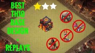 Clash of Clans - Best anti 2 stars TH10 war base with replays