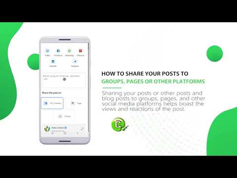 How to share your post to groups and pages on ConnectYu or to other platforms