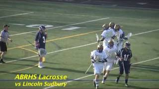 Acton Boxborough Varsity Lacrosse vs Lincon Sudbury May 2011