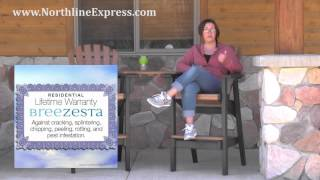 Breezesta Maintenance Free Patio Furniture - Coastal Bar Height Chair
