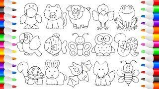 ВИДЕО ДЛЯ ДЕТЕЙ! Учимся рисовать животных / Learning how to draw animals