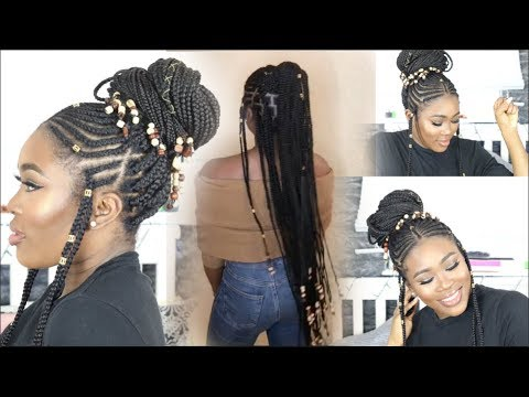 How To Thigh Length Beaded Fulani Braids П��🇬 П��🏾 Youtube