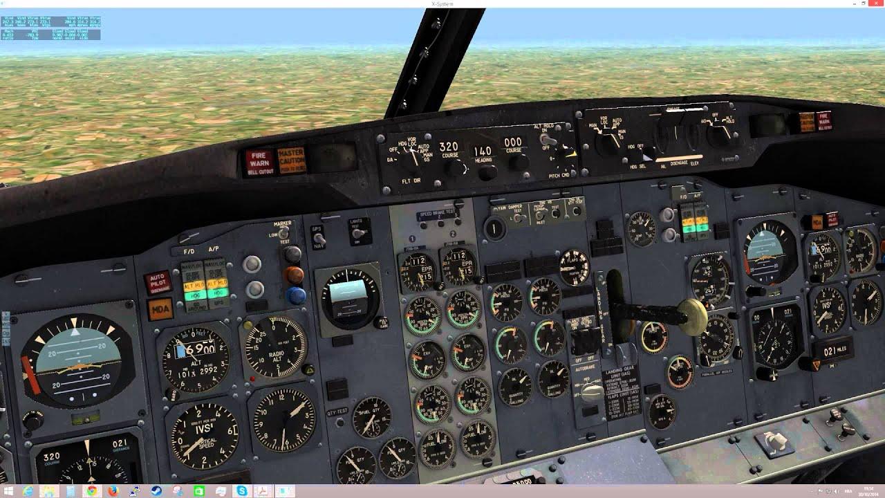 X-plane FlyJSim 737-200 - First flight - YouTube