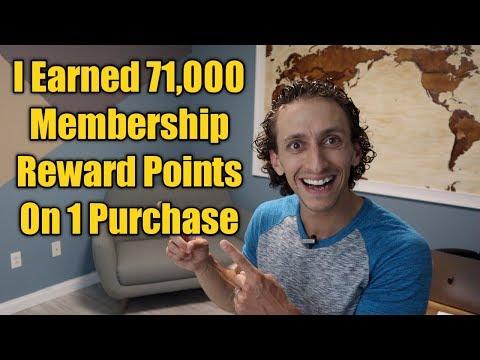 How I Earned 71,000 Membership Reward Points Using Ebates