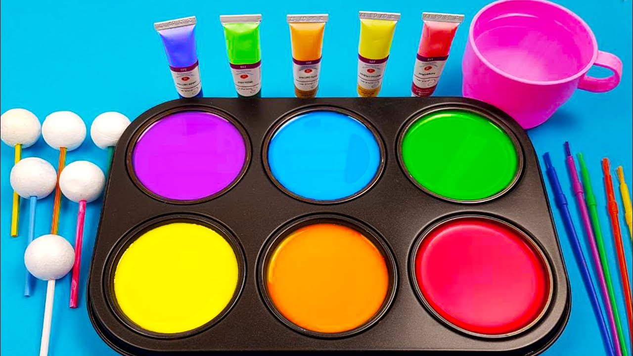 How To Make Frozen Paint With Colors Tube Videos