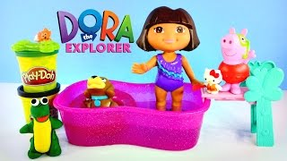 Splash & Paddle Dora The Explorer Perrito Swimming - Play Doh, Hello Kitty, Peppa Pig Episodes 2015