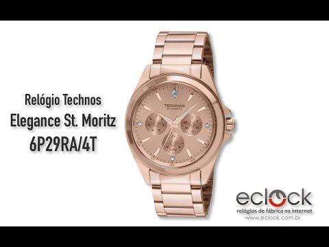 f47ce737b9bd8 Relógio Technos Feminino Elegance St. Moritz 6P29RA 4T - Eclock