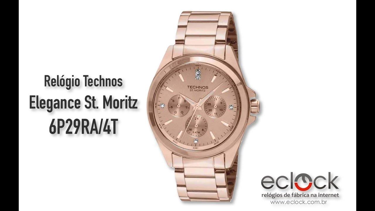 9fc7b57a58a4c Relógio Technos Feminino Elegance St. Moritz 6P29RA 4T - Eclock ...