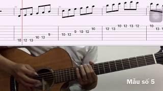 Bài 5: Hướng dẫn guitar Âm giai Đô trưởng và La thứ, cách chạy âm giai 5 mẫu âm giai