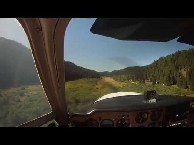 Landing at Magee airstrip, Idaho (S77)
