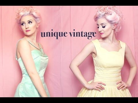 Unique Vintage Dresses (ASMR whispering, fabric, and package sounds)