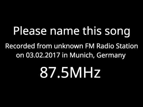 Please name this song! Recorded from unknown radio station in Germany