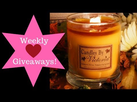 Candles By Victoria Wood Wick candle giveaway!