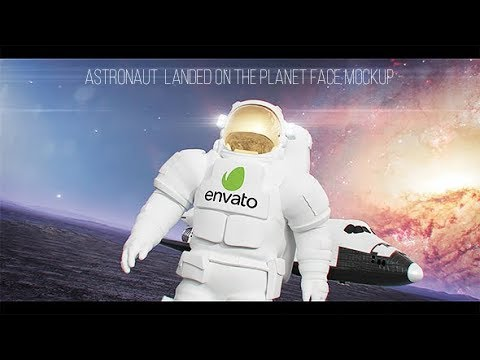 astronaut landed on the planet after effects template project