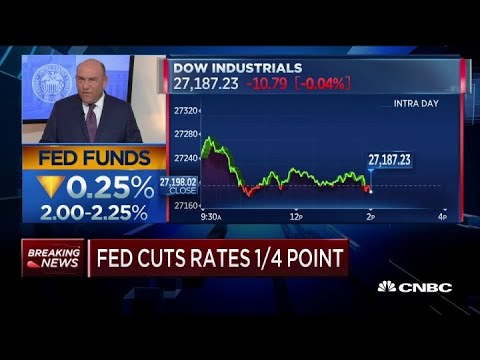 Fed Lowers Interest Rates By Quarter Point, First Rate Cut In 11 Years