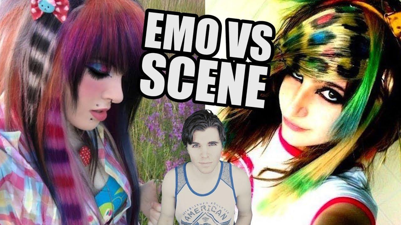 Emo Hair vs Scene Hair - YouTube