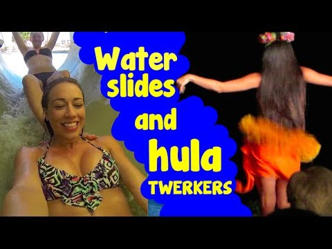 WATER SLIDES AND TWERKING HAWAIIANS!
