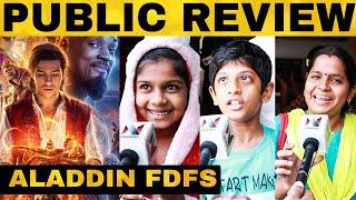 Aladdin FDFS Public Review | Will Smith | Mena Massoud | Naomi Scott | Guy Ritchie