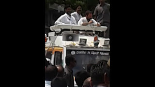 Rahul gandhi comes in jhansi nandanpura