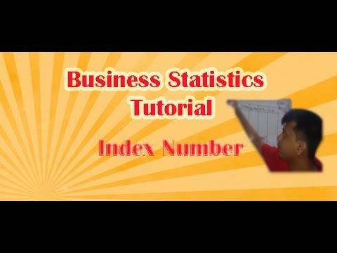 Index Number (Business Statistics Tutorial )